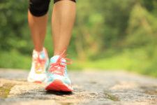 Woman walking in walking shoes